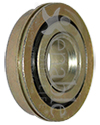 7/16 x 1 1/4 in. Flanged Wheelchair or Scooter Bearing - Angled view shown