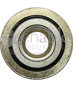 7/16 x 1 1/4 in. Flanged Wheelchair or Scooter Bearing - Front view shown