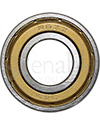 1/2 x 1 1/8 in. R8RS Ceramic Precision Wheelchair or Scooter Bearing - Metal side shown