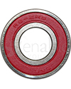 1/2 x 1 1/8 in. R8RS Ceramic Precision Wheelchair or Scooter Bearing - Rubber shield side shown