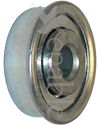 5/16 x 1 1/8 in. 516118 Flanged Wheelchair or Scooter Bearing - Angled view shown