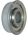 7/16 x 1 1/8 in. 716118 Flanged Wheelchair or Scooter Bearing - Angled view shown