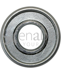 1/2 x 1 1/8 in. 12118 Flanged Wheelchair or Scooter Bearing - Front view shown