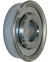 1/2 x 1 3/8 in. 12138 Flanged Wheelchair or Scooter Bearing - Angled view shown