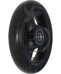 4 x 1 in. Primo Hollow Spoke Wheelchair Caster Wheel - Angled view shown