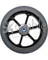 6 x 1 in. Six Spoke Wheelchair Caster Wheel - Front view shown
