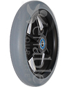 6 x 1 in. Six Spoke Wheelchair Caster Wheel - Angled view shown