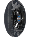 5 x 1 in. Three Spoke Wheelchair Caster Wheel with Pyramid Tire5 x 1 in. Three Spoke Wheelchair Caster Wheel with Pyramid Tire - Angled view shown
