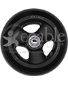5 x 1 1/2 in. Primo Hollow Spoke Wheelchair Caster Wheel - Front view shown