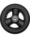 5 x 1 in. Primo Hollow Spoke Wheelchair Caster Wheel - Front view shown