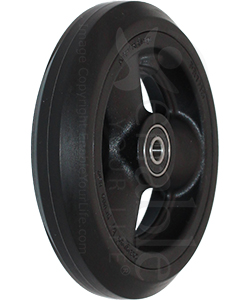 5 x 1 in. Primo Hollow Spoke Wheelchair Caster Wheel - Angled view shown