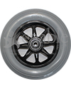 6 x 1 in. Eight Spoke Anti-Tip Caster Wheel for Pride Wheelchairs - front view shown