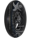 6 x 1 1/4 in. Primo Hollow Spoke Wheelchair Caster Wheel - Angled view shown