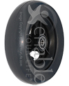 6 x 1 1/2 in. Three Spoke Wheelchair Caster Wheel - Angled view shown