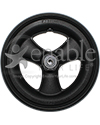7 x 1 in. Primo Hollow Spoke Wheelchair Caster with Urethane Tire - Front view shown