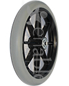 8 x 1 in. 8 Spoke Caster Wheel with Flanged Bearings and 1 ½ in. Hub - Angled view shown