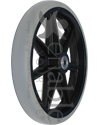 8 x 1 in. Economy Seven Spoke Wheelchair Caster Wheel - Angled view shown
