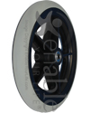 8 x 1 in. Economy 5 Spoke Wheelchair Caster Wheel with 1 1/2 in. Hub - Angled view shown