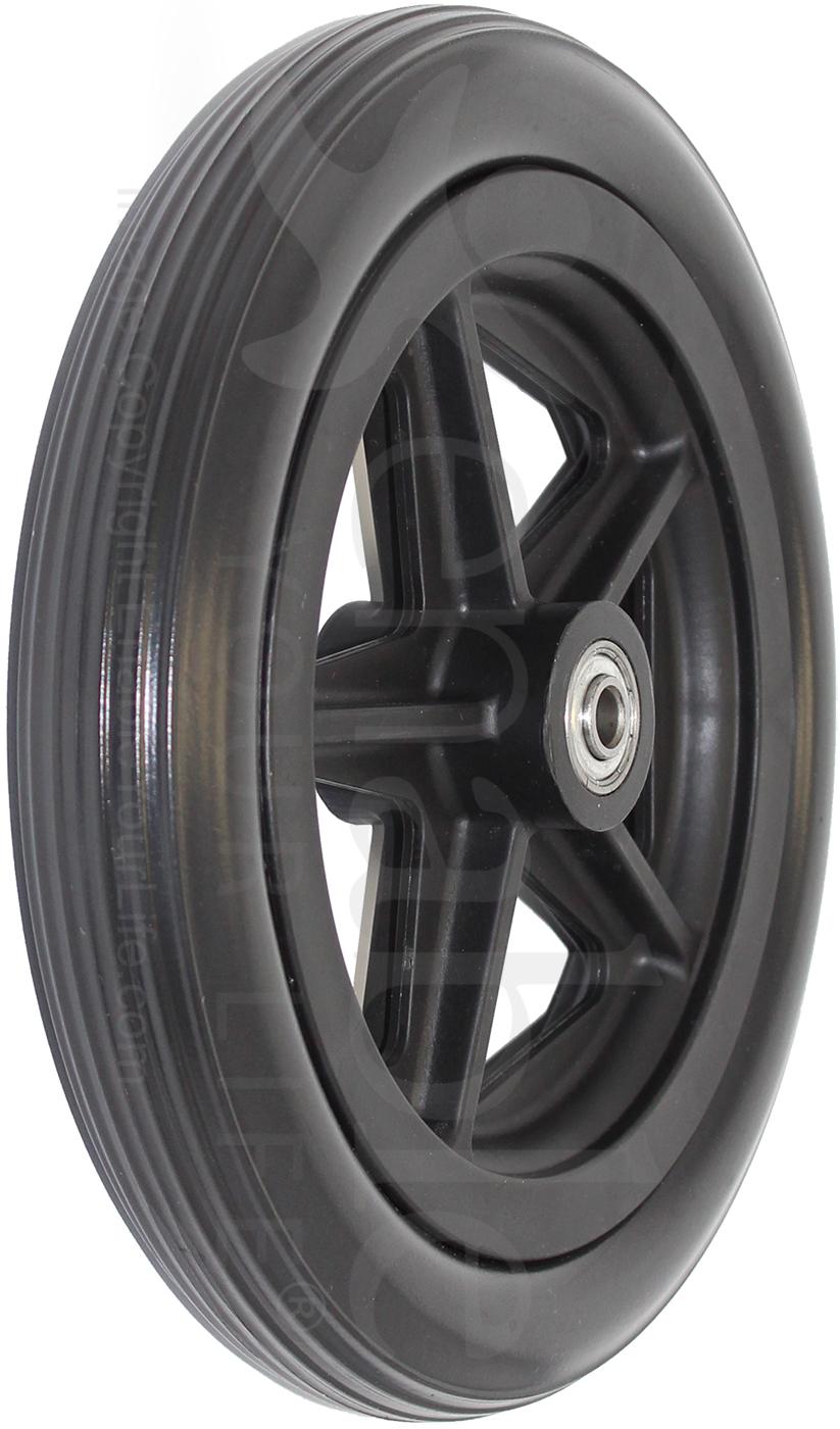 8 X 1 1 4 In 5 Spoke Wheelchair Caster Wheel With 1 1 2
