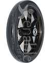 8 x 1 in. 8 Spoke Caster Wheel with Flanged Bearings and 2 3/8 in. Hub - Angled view of dark gray tire shown