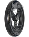 8 x 1 1/4 in. Primo Hollow Spoke Wheelchair Caster with Urethane Tire - Angled view shown