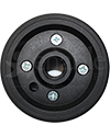 4 x 2 in. Two Piece Wheelchair Caster Rim with 2 1/2 in. Hub