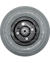 8 x 2 in. Standard Wheelchair Caster Wheel - Pneumatic tire shown