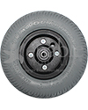 8 x 2 in. Wheelchair Caster Wheel with Primo Durotrap Tire - Front view shown