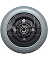 6 x 2 in. Invacare Wheelchair Replacement Caster Wheel - Back view shown