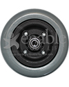 "6 x 2 in. Invacare Wheelchair Repl. Caster Wheel with Offset Bearings - 7/16"" bearing side shown"
