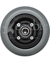 "6 x 2 in. Invacare Wheelchair Repl. Caster Wheel with Offset Bearings - 5/8"" bearing side shown"