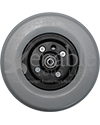8 x 2.25 in. Wheelchair Caster Wheel with Solid Urethane Tire - Front view shown