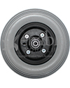 7 x 2 in. Quickie Replacement Wheelchair Caster Wheel - Front view shown
