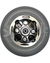 7 x 2 in. Alloy Wheelchair Caster Wheel - Back View