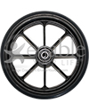 6 x 1 in. Eight Spoke Wheelchair Caster Wheel - Front view shown