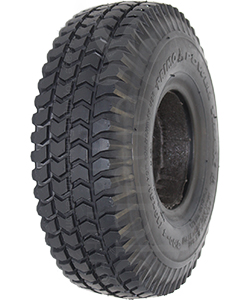 10 x 3 in. (3.00-4) (300-4) Primo Powertrax Foam Filled Wheelchair and Scooter Tire in Black - Angled view shown