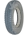 3.00-8 (14 x 3 in.) Primo Powertrax Heavy Duty Foam Filled Wheelchair Tire - Angled view shown