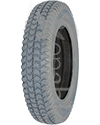 3.00-8 (14 x 3 in.) Primo Powertrax Foam Filled Wheelchair Tire - Angled view showing flat foam filling (foam does not rise above the tire bead)