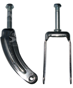 8 in. Chrome Steel Wheelchair Caster Fork – E&J Type - pr