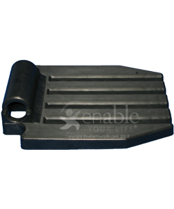 Black Plastic Footplate For 7/8 Tubing