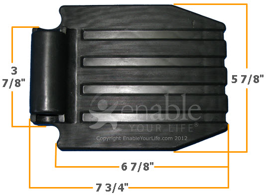 FP202 Black Plastic Footplate Dimensions