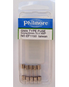 Glass Fuse - 15 AMP GMA Type 5mm X 20mm Pack of 5