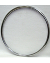 22 x 1 3/8 in. Chrome Plated Steel 4 Rivnut Pushrim