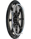 20 in. (451) 8 Spoke Wheelchair Mag Wheel with 2.4 in. Hub & Tire - Angled view shown