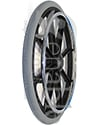 22 in. (501) 8 Spoke Wheelchair Mag Wheel with 2.4 in. Hub & Tire - Angled view shown