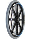 24 in. (540) 8 Spoke Wheelchair Mag Wheel with 2.4 in. Hub & Tire - Angled view shown with Priomo Orion Tire