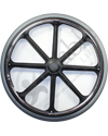 24 in. (540) 8 Spoke Wheelchair Mag Wheel with 2 in. Hub and Tire