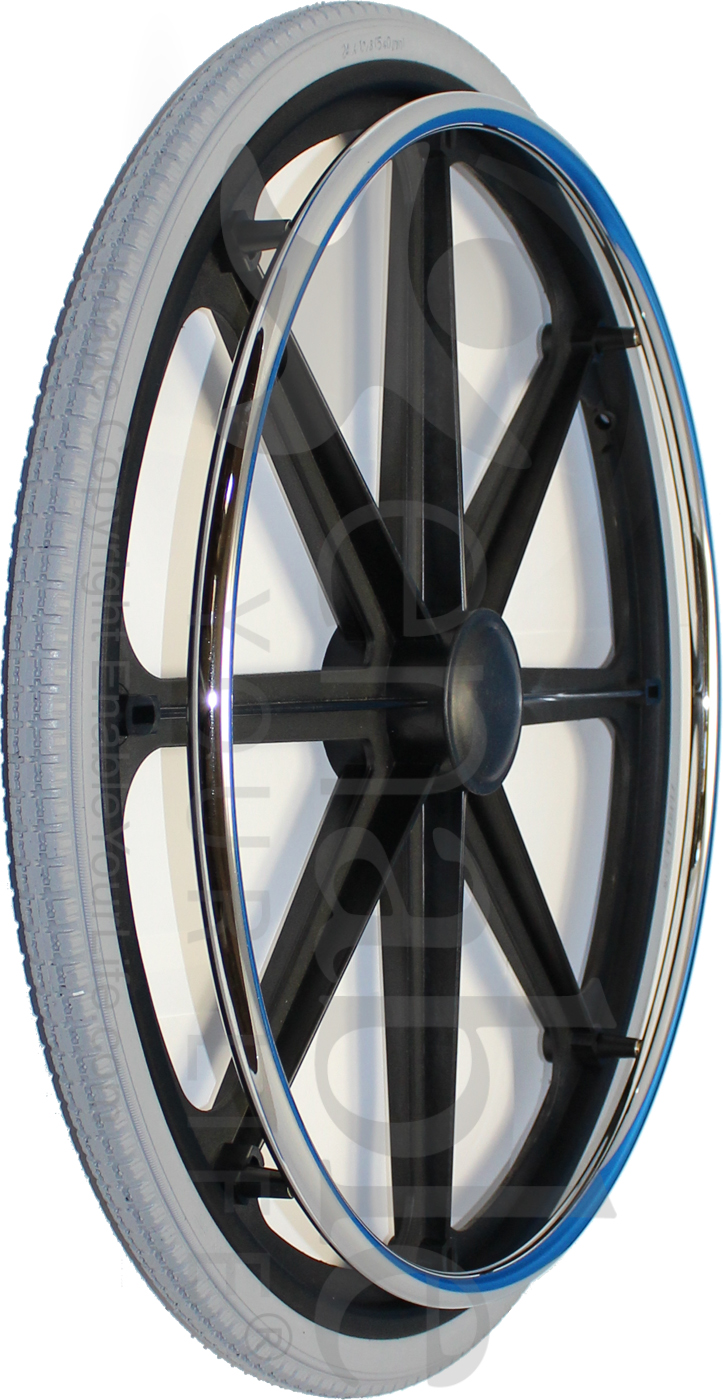Pacific Rim Equipment >> 24 in. (540) 8 Spoke Wheelchair Mag Wheel with 2 in. Hub and Tire - pr