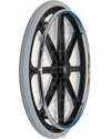 24 in. (540) 8 Spoke Wheelchair Mag Wheel with 2 in. Hub and Tire - Angled view shown with Aero-Flex™ Urethane Tire