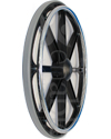 24 in. 8 Spoke Bariatric Wheelchair Wheel with 2 in. Hub and Tire - pr - Angled view shown